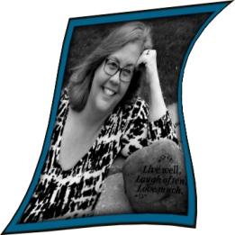 Skewed photo of Becky B Koop, Author