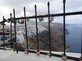 Love locks, Santorini