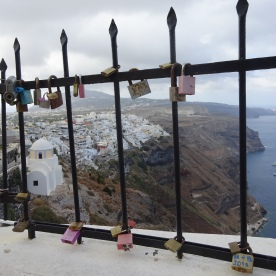 Love locks, Santorini
