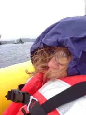 "BeckyBKoop"" enjoying"" the ride to Betton Island"